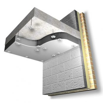 SoffitLiner is designed to insulate an exposed concrete soffit.