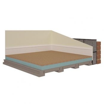 Styrofloor® is an insulated flooring panel, comprising p5 moisture resistant chipboard and Styrofoam, an extruded polystyrene.