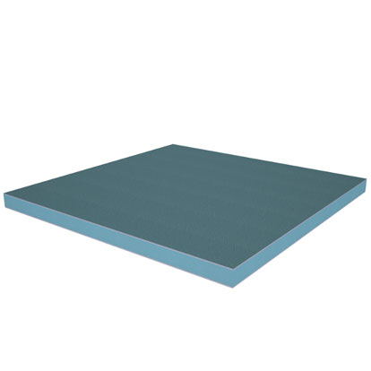 Styroglaze is an insulated panel comprising plastisol steel bonded to a XEnergy Styrofoam core.