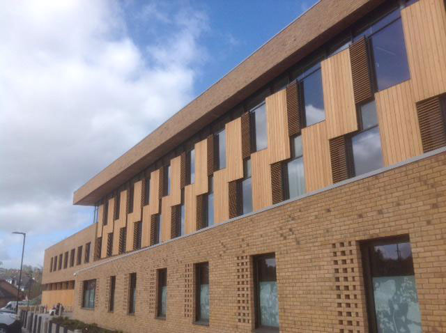 Timber-cladding for Taylor's of Harrogate office