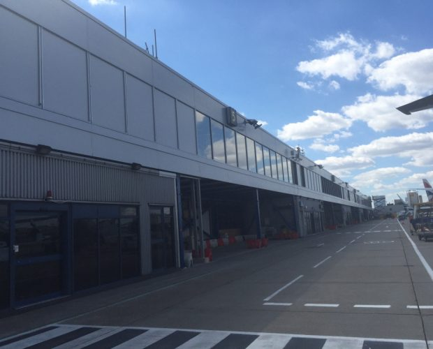 Panels are a Sound Feature of Refurbished Airport Building