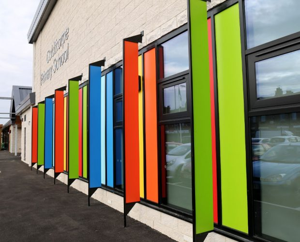 Colourful Trespa external cladding is in high demand
