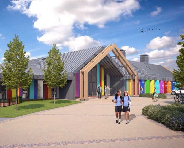 Trespa external cladding is ideal for schools