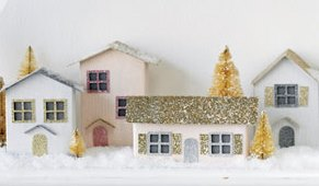 christmas village made from Craftfoam
